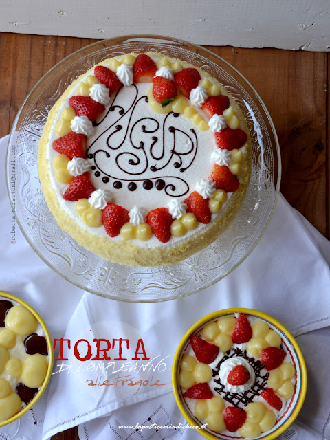 Torta di Compleanno alle fragole con chantilly