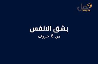 بشق الانفس من 6 حروف لغز 256 فطحل