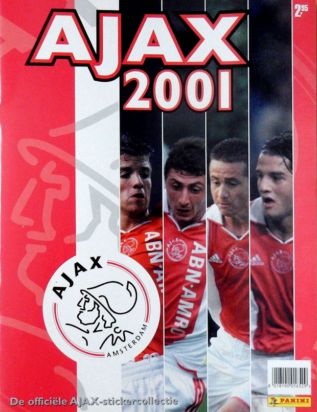 2000 01 ajax 2001 panini netherlands 97 stickers