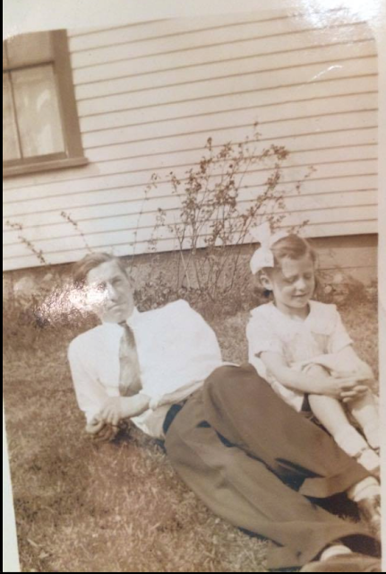 1920s photo of Jack Gross and his niece Helen Gross