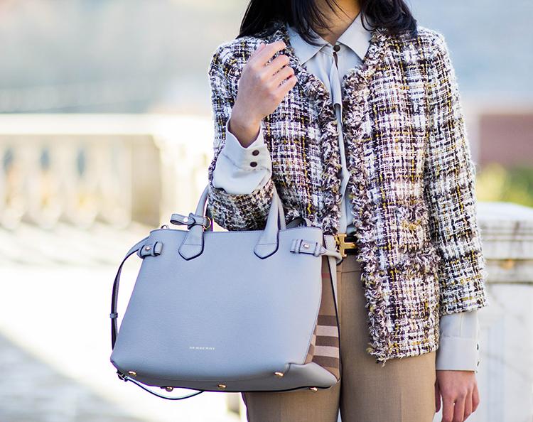 3eb8a94f366a Ruffle Blouse   Tweed Jacket - Elle Blogs