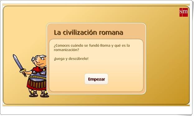 La civilización romana (Historia de 5º de Primaria). Librosvivos S.M.