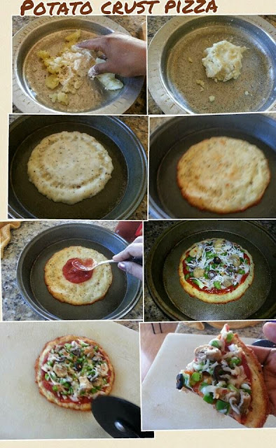 images for Potato Crusted Pizza Recipe / Potato Pizza Recipe