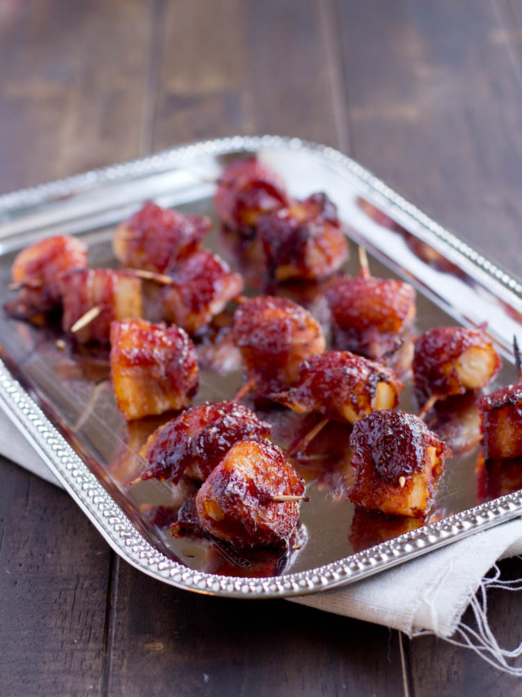 Bacon Wrapped Water Chestnuts {guest post} - Rachel Cooks®