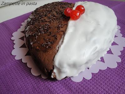 Torta bicolore - Ricetta dolce per San Valentino