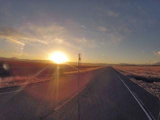 Pôr do sol a caminho de Cusco / Peru.