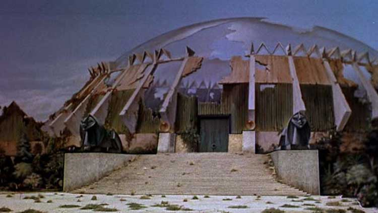 The set design is cool in the original film of The Time Machine.