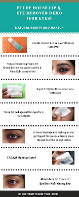 Step by step guide on how to use Etude House Lip & Eye Remover for eyes