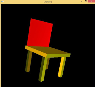 Programmer Chair Using Opengl