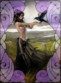 Illustration of Morrigan | Wicca, Magic, Witchcraft, Paganism