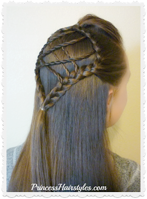 Braided dream catcher hairstyle. Step by step video tutorial.