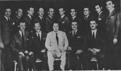 Roberto Goyeneche, Anibal Troilo y Ángel Cárdenas en 1956