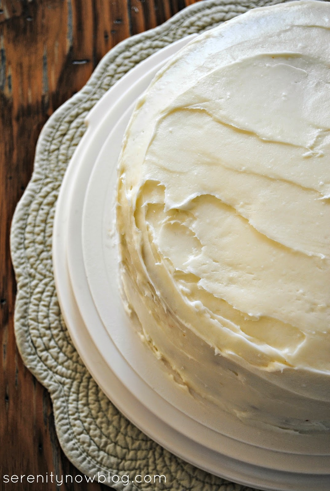 Key Lime Cake with homemade Cream Cheese Frosting, from Serenity Now