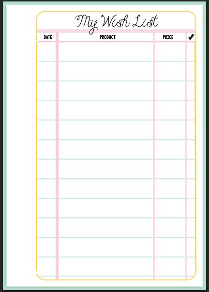 MsWenduhh Planning & Printing: Filofax Wish List Printable