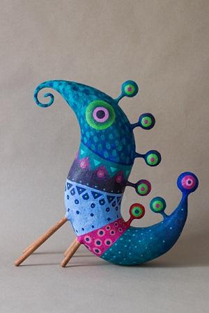 Colibri phocidae 2 - Gustavo Ramírez Cruz | imagenes de obras de arte contemporaneo bonitas, esculturas chidas, cosas lindas alebrijes, papel mache, cool stuff, art pictures