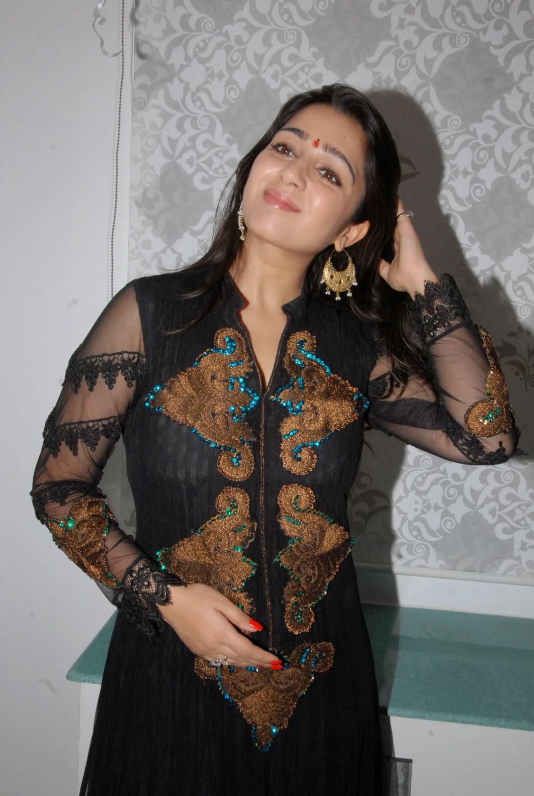 Charmi Kaur Hot Black Dress | Charmee Kaur Cute | All ...