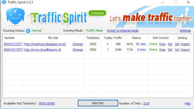 Bot Traffic Spirit - Proof Page Views dalam 30 detik
