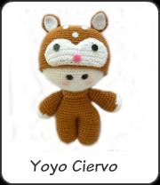 Yoyo ciervo amigurumi