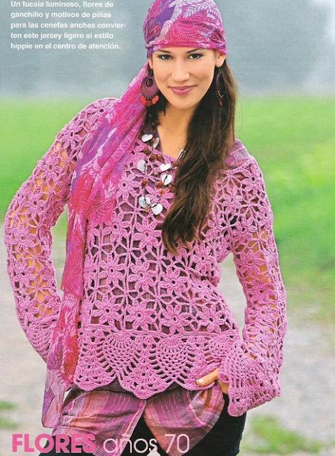 Jersey Hippie Crochet-Tricot Patron