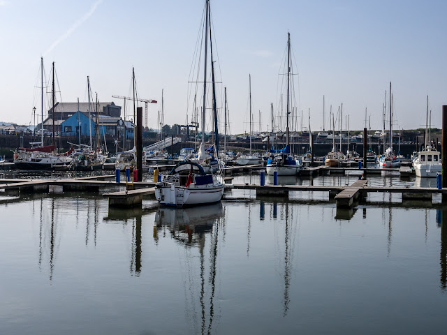 Photo of calm conditions in Maryport Marina, Cumbria, UK, on Saturday morning
