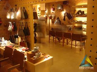 projeto arquitetura loja calçados femininos iluminação