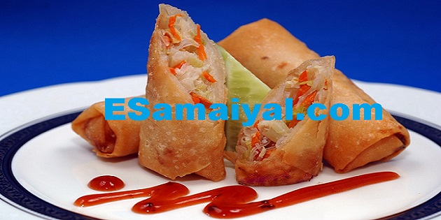 வெஜ் இறால் ஸ்ப்ரிங் ரோல் செய்முறை / Vej Shrimp Spring Roll !