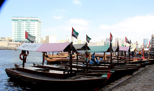 Wooden Boats in Dubai Creek