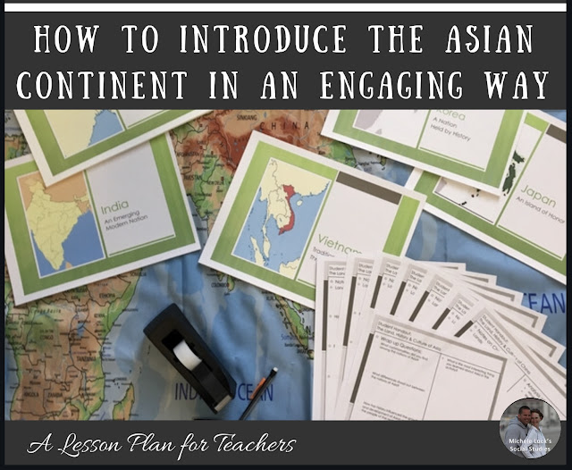 """Class, meet Asia."" Well, that was easy, wasn't it? But introducing your students to the Asian continent requires a bit more than a simple introduction. In fact, easing into a unit on Asia can be overwhelming as students may have trouble relating to those on a completely different continent. But it doesn't have to be a dreaded transition! Introducing the Asian continent in an engaging way will spark students to seek knowledge, approach the lessons with curiosity, and begin to draw conclusions about the continent all while skipping over that overwhelmed resistance to learn new things. #asia #lessonplanning #teachinghighschool #teachingmiddleschool #teachaboutasia #learnaboutasia"