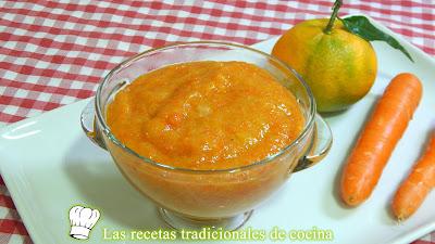 Receta fácil de mermelada de zanahoria y mandarina