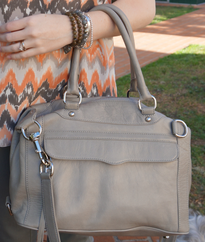 Rebecca Minkoff soft grey mini morning after bag MAM