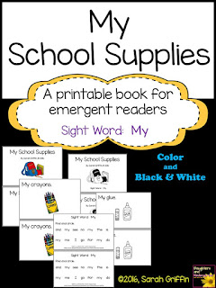 https://www.teacherspayteachers.com/Product/Sight-Word-Reader-My-School-Supplies-ColorBW-726017