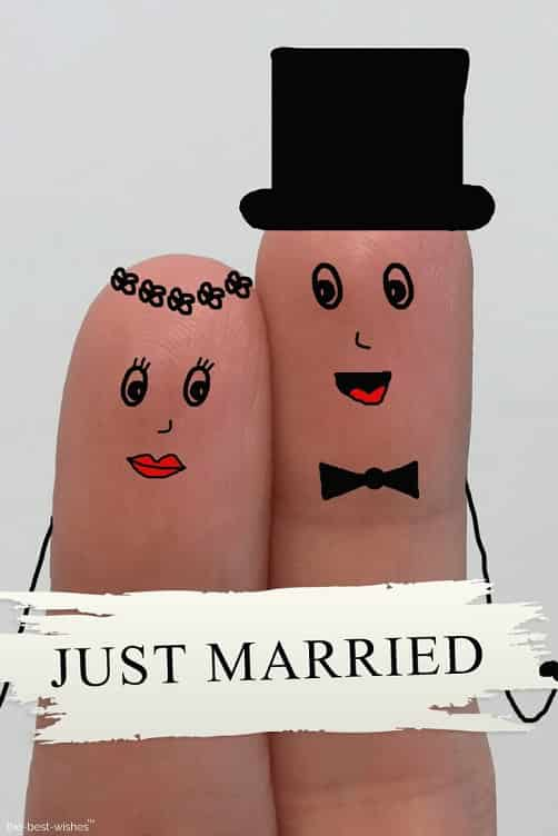spouses newlyweds love finger art image