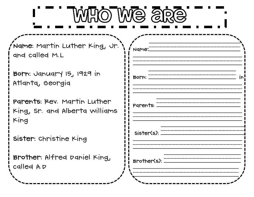Martin Luther King Worksheets For 3rd Graders - collection of free ...