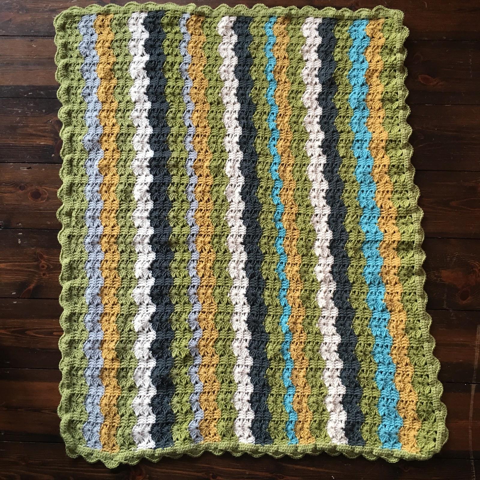 Couverture De Bébé Au Crochet Motif Vagues Le Stitch En