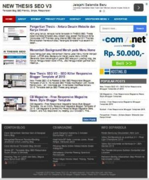 New Thesis SEO - SEO Fast Responsive Blogger Template