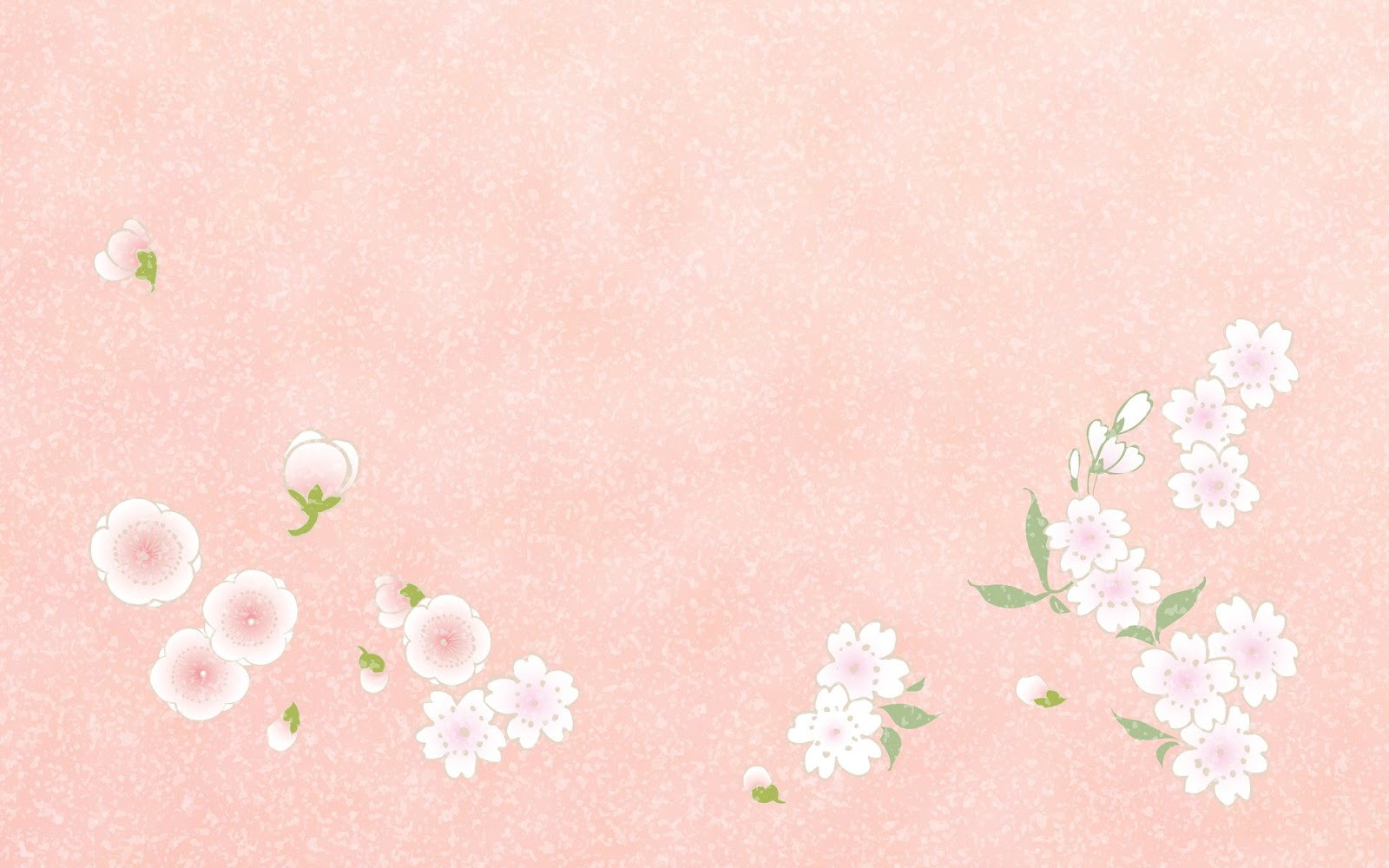 Pink flowers PowerPoint background
