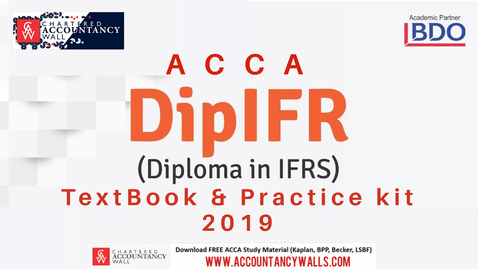ACCA DipIFR Book and Exam Kit 2019 - FREE ACCOUNTANCY STUDY