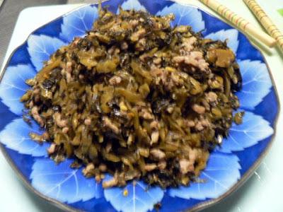 高菜と挽肉炒め完成