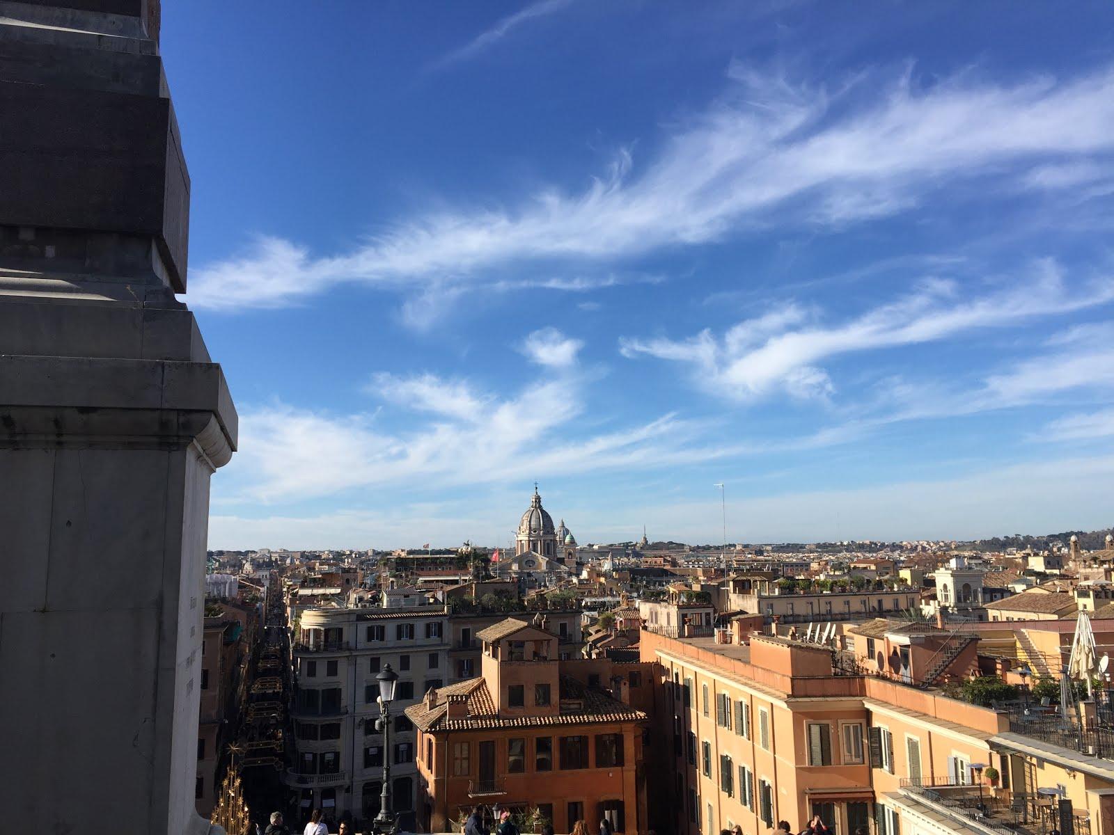 vue sur rome depuis la villa medicis