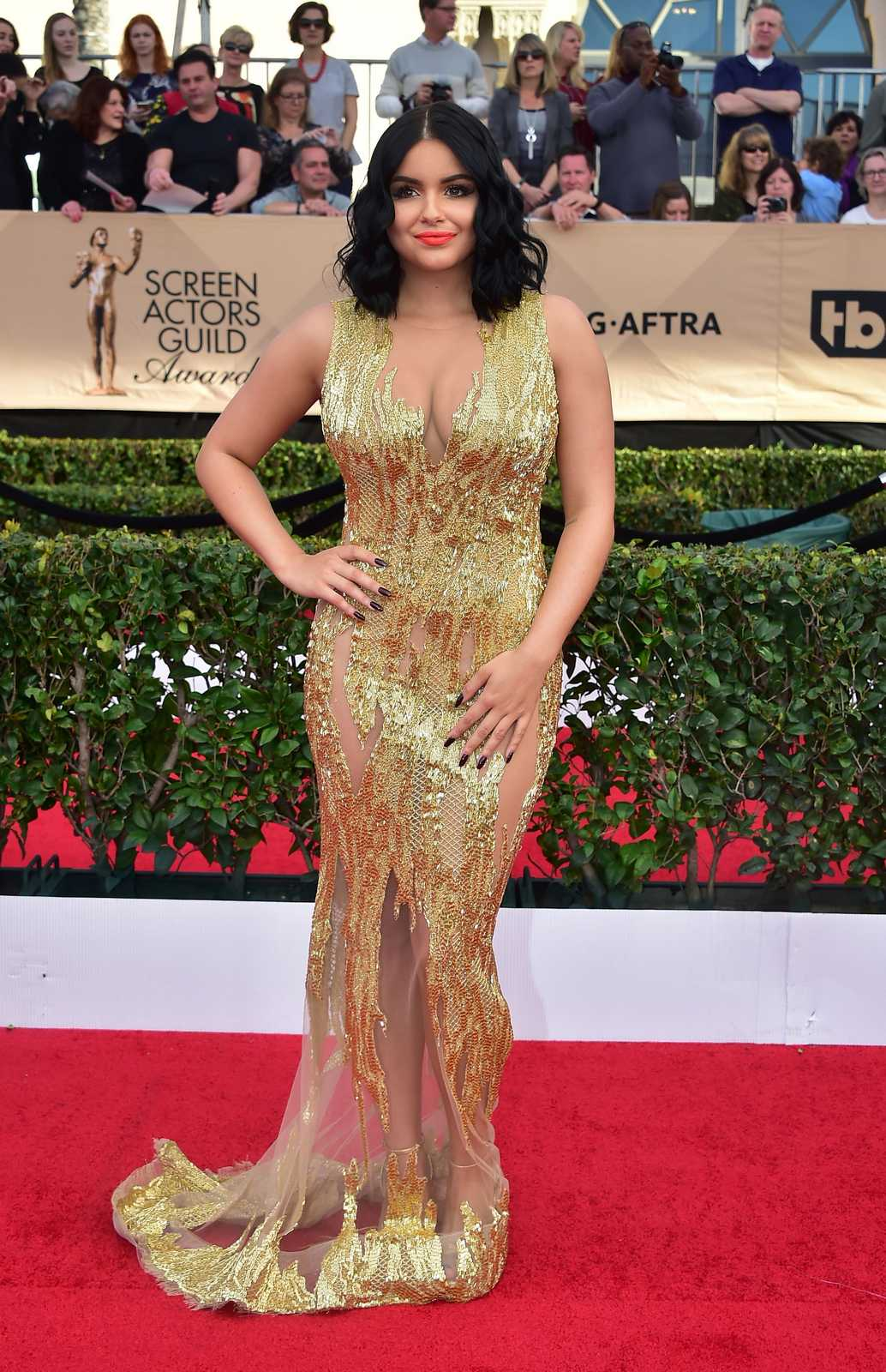 Ariel Winter shows off curves in semi sheer gown at the 2017 SAG Awards