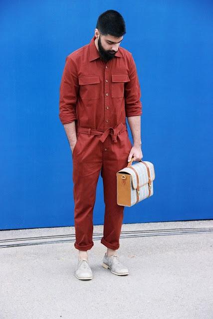 Look Masculino com Macacão estilo Mecânico Worker