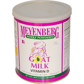 بودرة حليب الماعز بفيتامين دي  Meyenberg Goat Milk, Whole Powdered Goat Milk, Vitamin D, 12 oz (340 g)