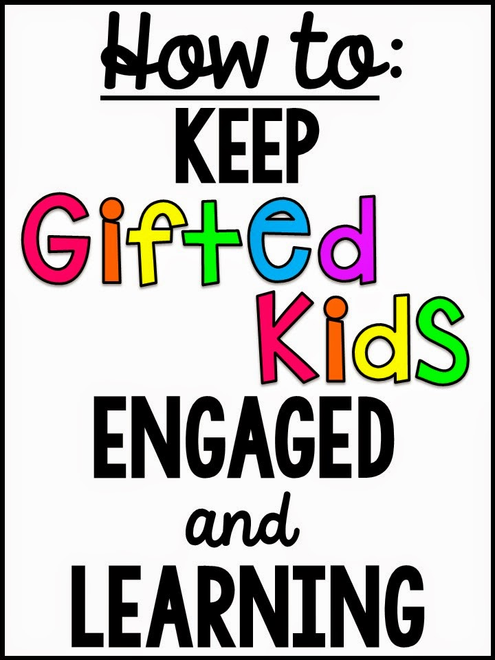 Classroom Enrichment Ideas ~ Miss giraffe s class how to keep gifted students engaged
