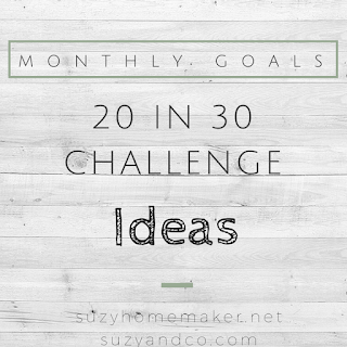 the 20 in 30 monthly goal challenge recap & ideas | suzyhomemaker.net