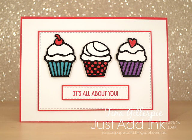 scissorspapercard, Stampin' Up!, Just Add Ink, Birthday Cheer Bundle, Rectangle Stitched Framelits, Blends