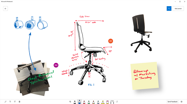 Microsoft Whiteboard Preview app for Windows 10 released