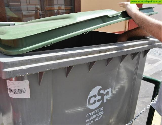Cada habitante de La Palma genera 345 kilos de residuos  al año en 2019