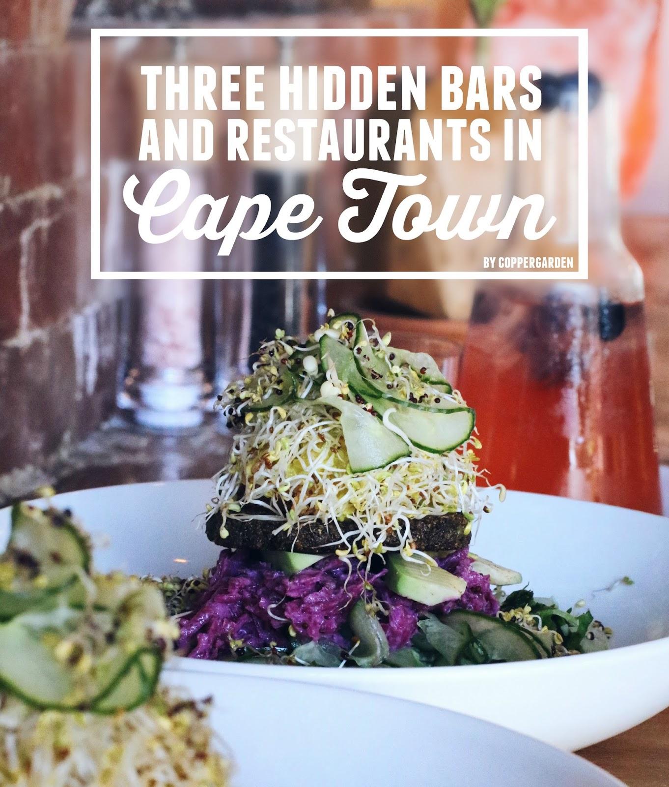 hidden bars and restaurants Cape Town, copper garden