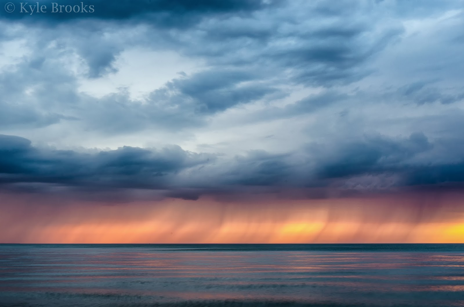 Lake Erie Storm at Sunset