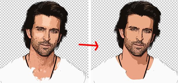 membuat foto kartun, efek kartun photoshop